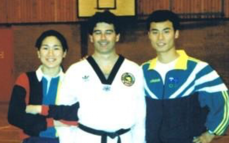 Gary with the Sydney 2000 Australian Olympic coach JEONG Jintae & women's world champion LEE Min
